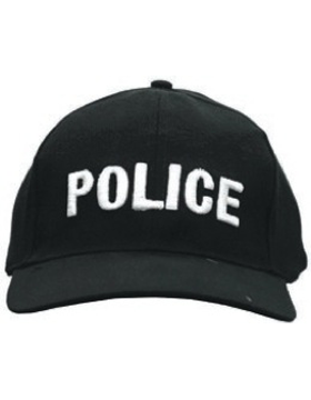 Cap (DC-U-0002A) Black with POLICE (3D) White