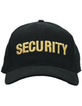Cap (DC-U-0003A) Black with SECURITY (3D) Gold
