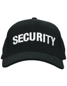 Cap (DC-U-0004A) Black with SECURITY (3D) White