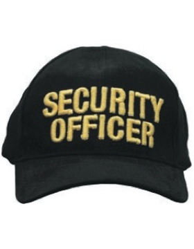 Cap (DC-U-0005A) Black with SECURITY OFFICER (3D) Gold