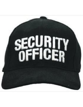 Cap (DC-U-0006A) Black with SECURITY OFFICER (3D) White