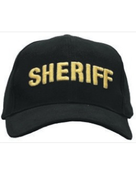 Cap (DC-U-0007A) Black with SHERIFF(3D) Gold