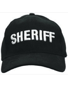 Cap (DC-U-0008A) Black with SHERIFF (3D) White