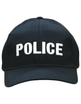 Cap (DC-U-0102A) Navy with Police (3D) White