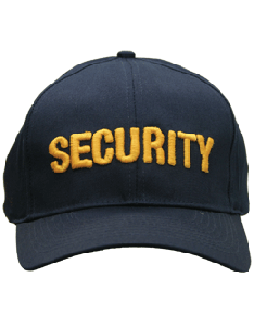 Cap (DC-U-0103A) Navy with Security (3D) Gold