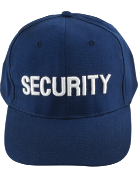 Cap (DC-U-0104A) Navy with SECURITY (3D) White