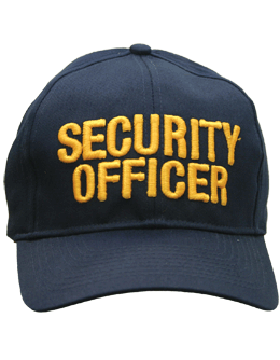 Cap (DC-U-0105A) Navy with Security Officer (3D) Gold