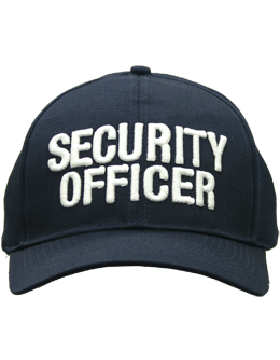 Cap (DC-U-0106A) Navy with Security Officer (3D) White