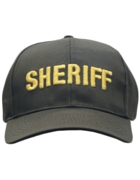 Cap (DC-U-0107A) Brown with SHERIFF (3D) Gold