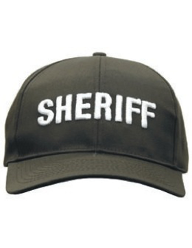 Cap (DC-U-0108A) Brown with SHERIFF (3D) White