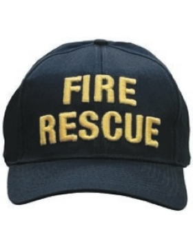 Cap (DC-U-0123A) Navy with Fire Rescue (3D) Gold