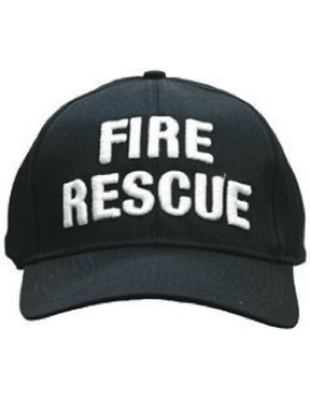 Cap (DC-U-0124A) Navy with Fire Rescue (3D) White