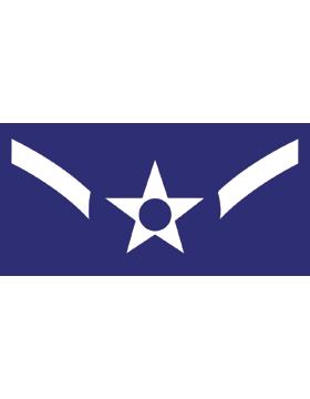 U.S. Air Force Chevron Decal White on Blue Airman