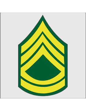 Gold on Green Chevron Decal Sergeant First Class