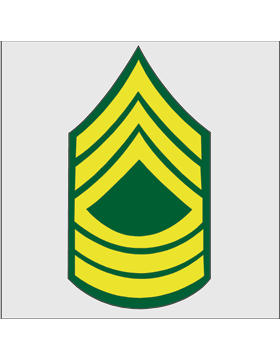 Gold on Green Chevron Decal Master Sergeant