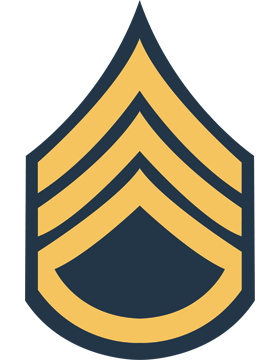 Gold on Blue Chevron Decal Staff Sergeant