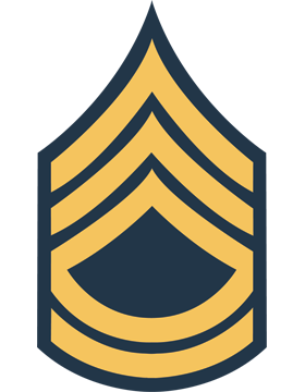 Gold on Blue Chevron Decal Sergeant First Class