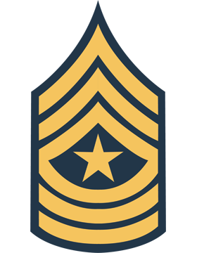 Gold on Blue Chevron Decal Sergeant Major