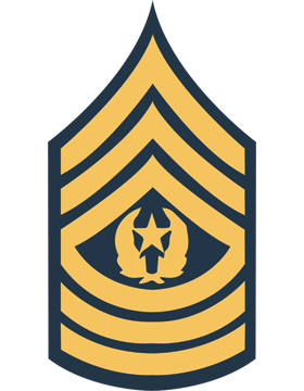 Gold on Blue Chevron Decal Command Sergeant Major