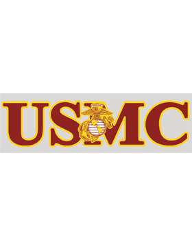 USMC with Eagle Globe and Anchor Decal