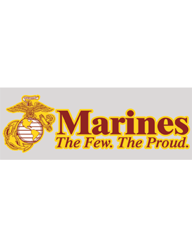 Marines The Few. The Proud. Decal small