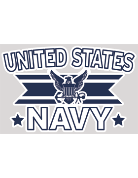 United States Navy with Eagle Shield and Anchor Decal