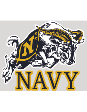 Navy Goat Decal
