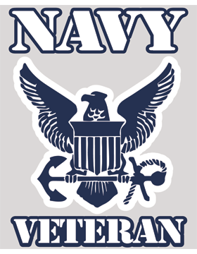 Navy Veteran with Eagle Shield and Anchor Decal