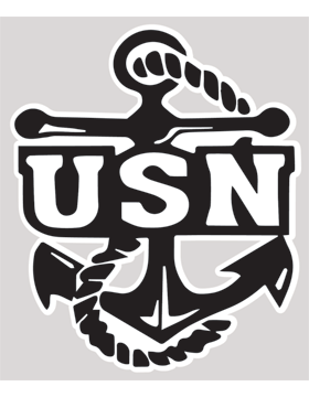 USN with Anchor Decal