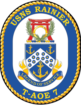 Fast Combat Support Ship USS Rainier AOE-7 Coat of Arms Decal