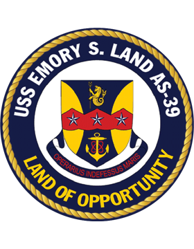 Submarine Tender USS Emory S. Land AS-39 Coat of Arms Decal