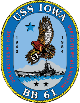 Battleship USS Iowa BB-61 Coat of Arms Decal