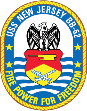 Battleship USS New Jersey BB-62 Coat of Arms Decal