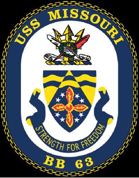 Battleship USS Missouri BB-63 Coat of Arms Decal