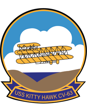 Aircraft Carrier USS Kitty Hawk CV-63 Coat of Arms Decal