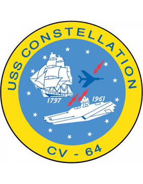 Aircraft Carrier USS Constellation CV-64 Coat of Arms Decal