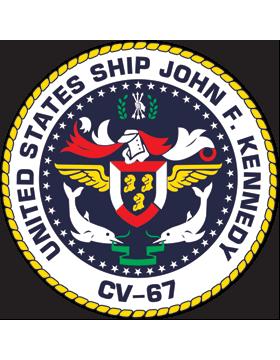 Aircraft Carrier USS John F. Kennedy CV-67 Coat of Arms Decal