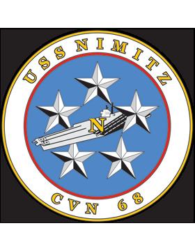 Aircraft Carrier USS Nimitz CVN-68 Coat of Arms Decal