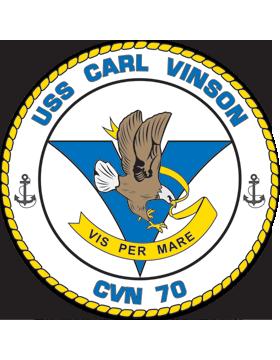 Aircraft Carrier USS Carl Vinson CVN-70 Coat of Arms Decal