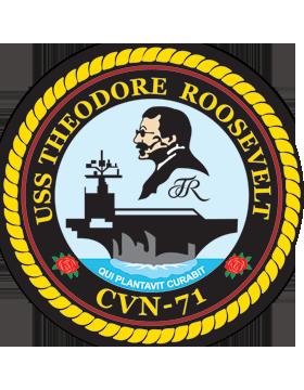 Aircraft Carrier USS Theodore Roosevelt CVN-71 Coat of Arms Decal