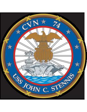 Aircraft Carrier USS John C. Stennis CVN-74 Coat of Arms Decal