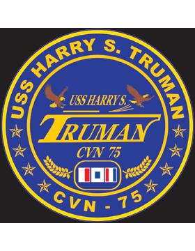 Aircraft Carrier USS Harry S. Truman CVN-75 Coat of Arms Decal