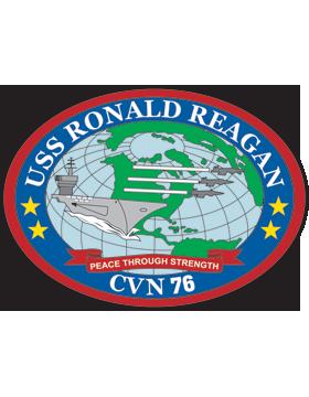 Aircraft Carrier USS Ronald Reagan CVN-76 Coat of Arms Decal