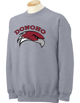 Donoho Falcons Sport Gray Crewneck Sweatshirt 18000