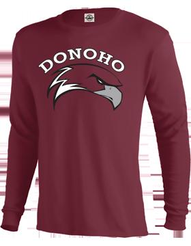 Donoho Maroon Long Sleeve T-Shirt 61748