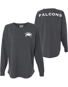 Donoho Falcons Charcoal Heather Game Day Long Sleeve Jersey 8229