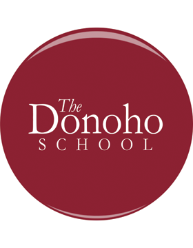 "Donoho School 3"" Button"