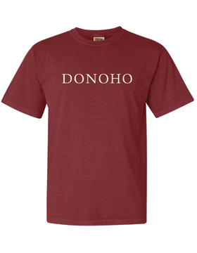 DONOHO Comfort Colors Brick T-Shirt with Seaside Font