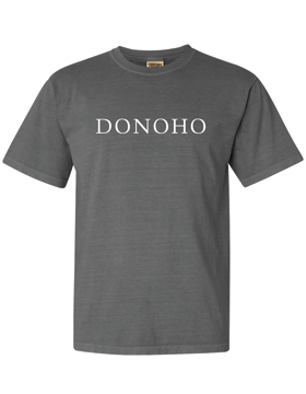DONOHO Comfort Colors Gray T-Shirt with Seaside Font