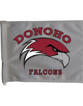Donoho Falcons Car Gray Flag